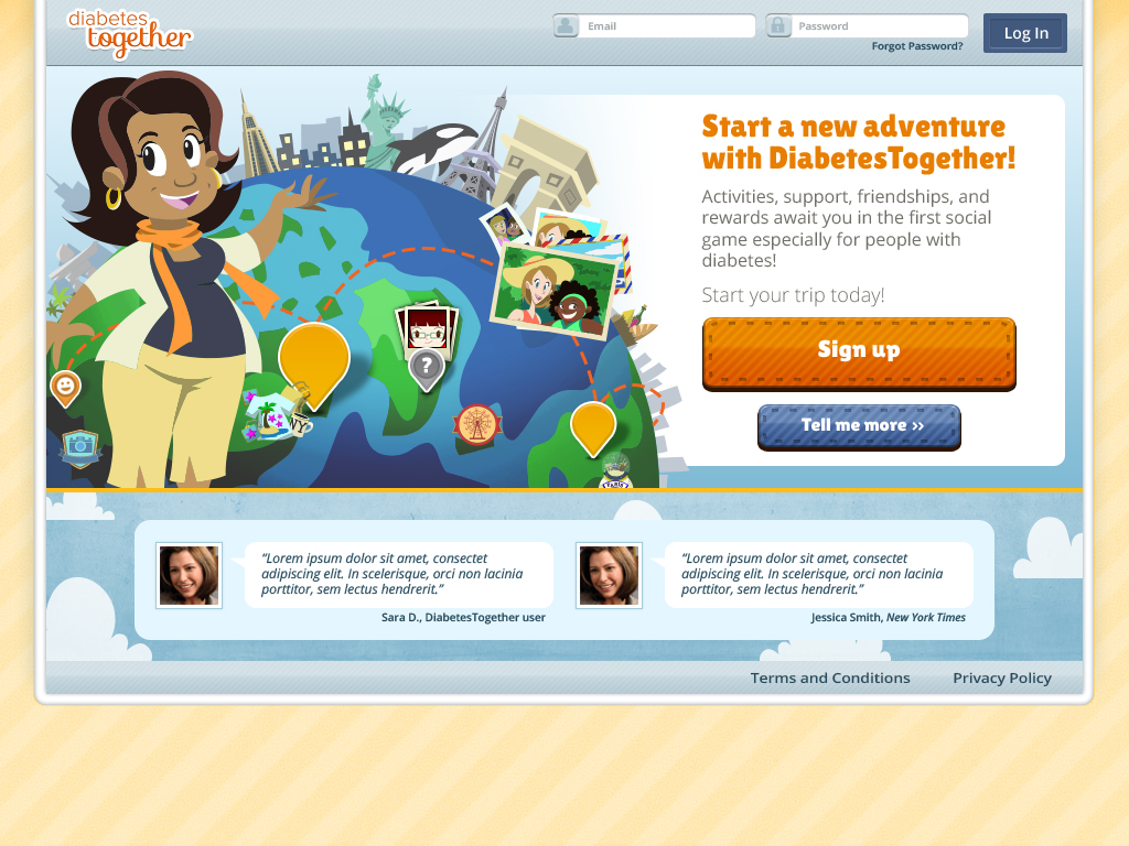 Merck Ayogo diabetes together Landing page